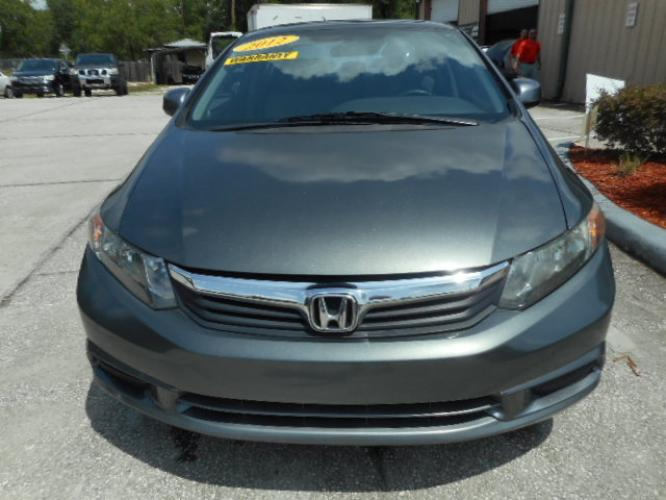 2012 GRY HONDA CIVIC EX-L (2HGFB2F99CH) , located at 390 Hansen Avenue, Orange Park, FL, 32065, (904) 276-7933, 30.130497, -81.787529 - Photo #1
